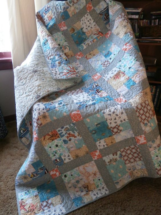 Quiltsy Destash Party  CityScape Modern Quilt by Pamelaquilts