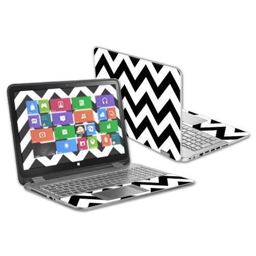 "Skin Decal Wrap for HP Envy x360 15.6"" (2014 Version) Laptop Black"