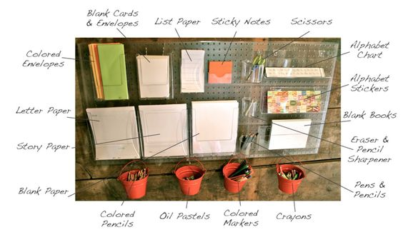 Cooled organized writing station for kids. I will need to start mine early, I don't want them to end up like me. :)