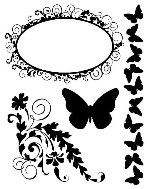 Sellos Acrílicos – Mariposa
