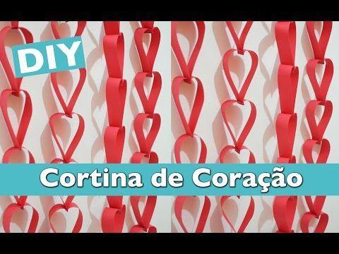 DIY: Cortina de Coração - YouTube