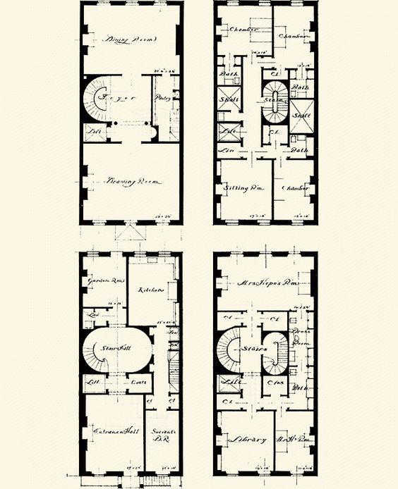 New york townhouse townhouse and floor plans on pinterest for New york house plans