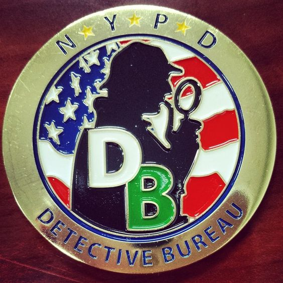 a coin for the nypd detective bureau we love the sherlock. Black Bedroom Furniture Sets. Home Design Ideas