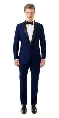 Custom Tuxedo in Royal Blue | Black Lapel