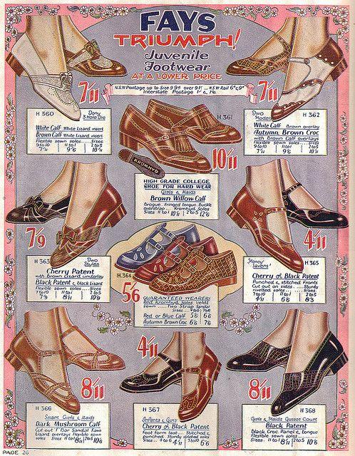 Fay's Shoe Catalogue 1932. #vintage #1930s #fashion #shoes