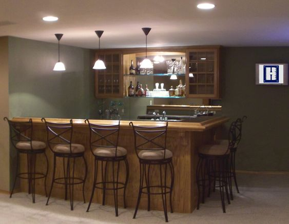 Small Basement Bar Ideas - More Home Bar Pictures Here: http://homebar.involvery.com/best-home-bar-pictures/