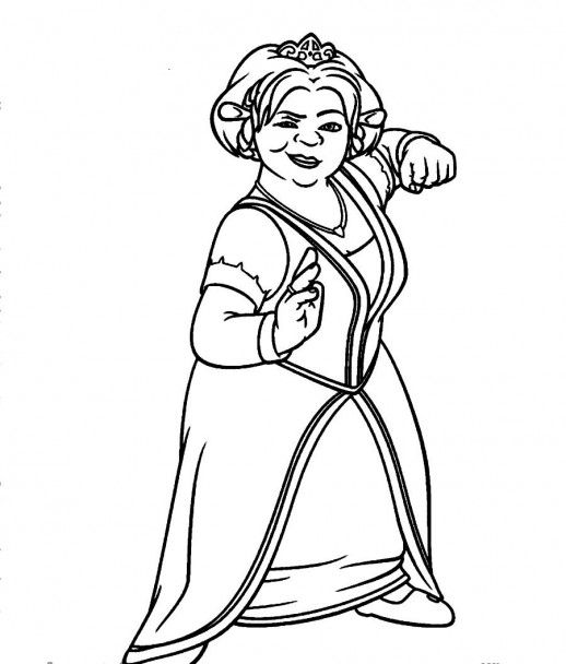 princess fiona from shrek coloring pages colouring