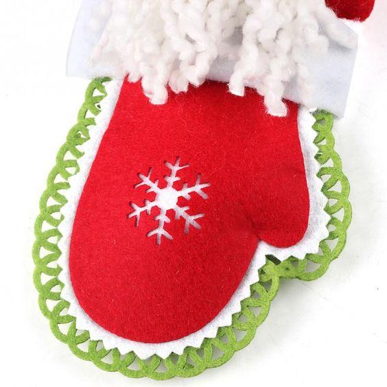 Chrismas Cute Snowman Christmas Decorations Santa Claus Christmas Gloves