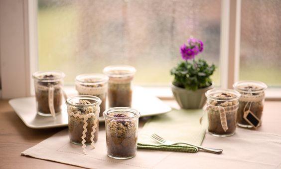 Mohn-Brownie - Saftige Mohn-Brownies mit Streuseldecke