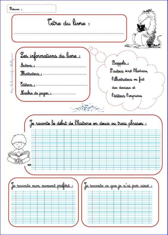 Fiche de lecture ( à adapter pour la classe de Français 1)
