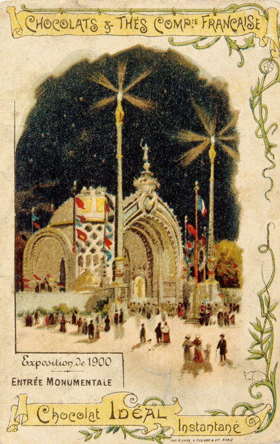 Exposition Universelle de 1900, Paris -  Entrée monumentale.