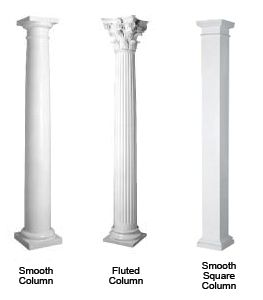 We manufacture and distribute exterior fiberglass columns!