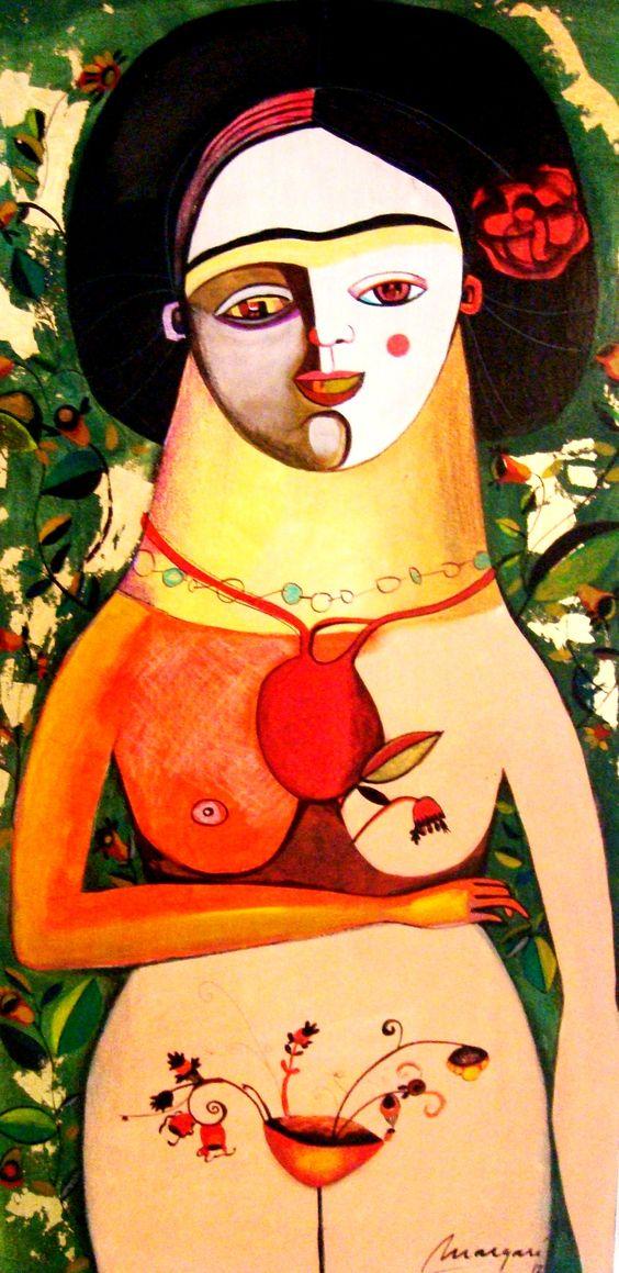 Vanina Margaría pinturas- Frida Florecida