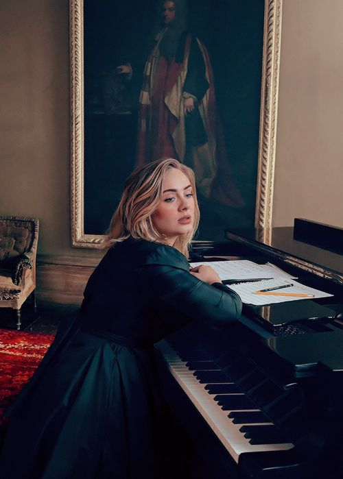"""adelembe: """" """" Adele photographed by Annie Leibovitz for VOGUE. """" holy sweet mother of jesus my soul just left my body SHE'S FIRE """""""
