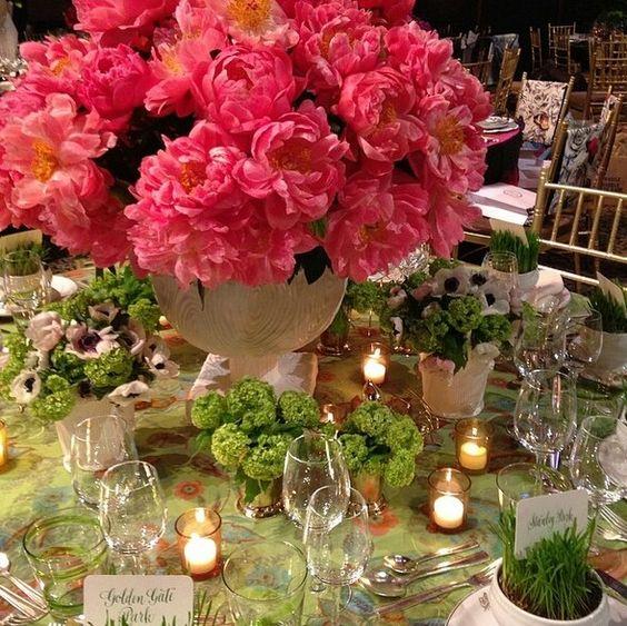 Beautiful peonies colors for a unique wedding arrangements.