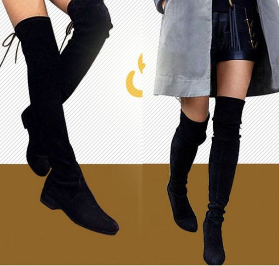 Womens Tassel Over Knee Thigh High Knight Boots Round toe Flat