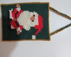 Quadro de Papai Noel Bordado