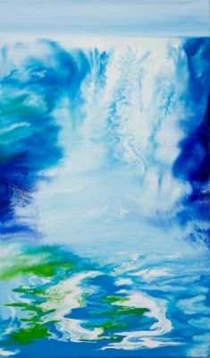 This is oil-falls2 / Oil on canvas, 2011 / 120 x 70 cm (47.2 x 27.6 inch)