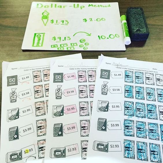 Special education Education and Studentcentered resources on – Dollar Up Worksheets