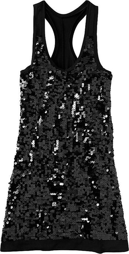 Black Sequin Tank top!!!&lt3 My favorite!!!  Black Sequin Tank Top ...
