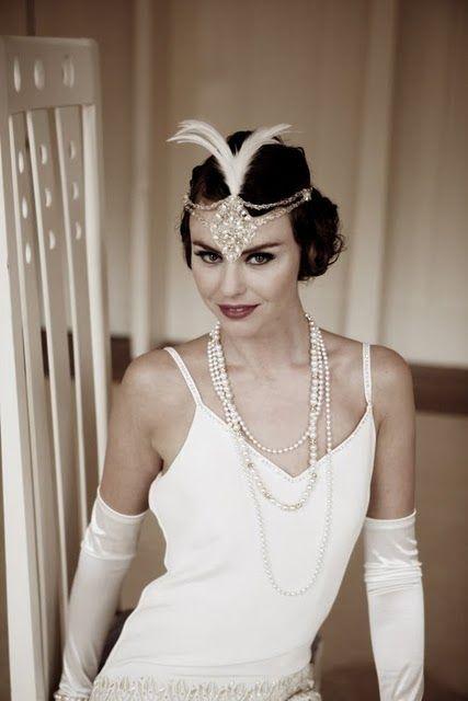 mariages r tro robes de mari es style ann es 20 30 coiffe bijoux et accessoires pinterest. Black Bedroom Furniture Sets. Home Design Ideas