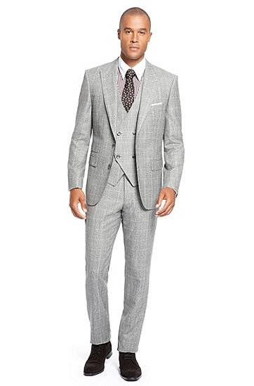 Hugo Boss Hanver/Court Three Piece Wool Suit with Double Breasted