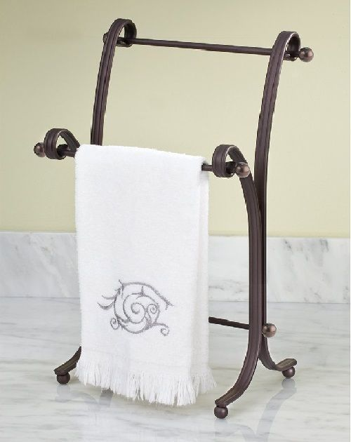 white bath free towel kitchen holder mylifeunit standing hand fingertip stand rack