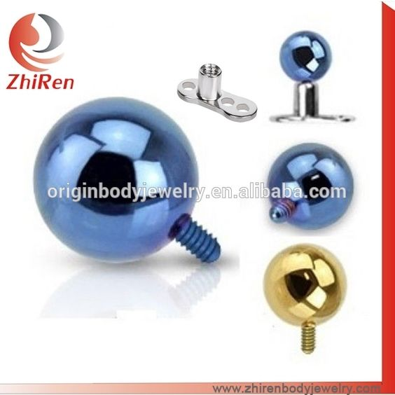 Full ball top 316l body jewelry  micro dermal anchor www.zhirenbodyjewelry.com