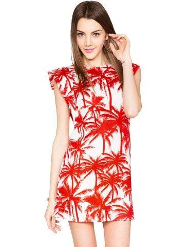 Pixie Market Palm Tree Dress - Tropical Print Summer Dress -$54