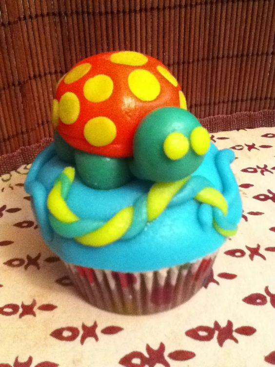 Turtle cupcake!