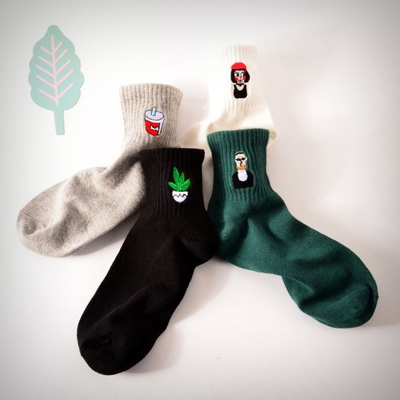Leon the Professional Embroidered Ankle Socks · Ice Cream Cake · Online Store Powered by Storenvy