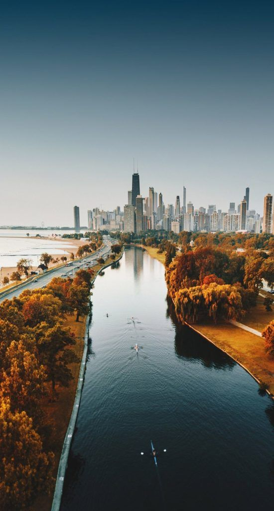 Iphone X Wallpaper Hd 1080p Tecnologist Chicago Fall Places To Travel Aerial View