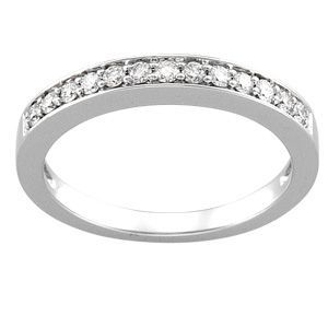 64755 / 14K White / 1/4 CT TW BAND / Polished / TT BRIDAL ENGAGEMENT SEMI SET