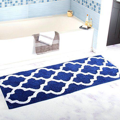 Boncou Big Size Square Lines Serie Microfiber Bath Rugs Non Slip Bath Mats Absorbent Bathroom Rugs Machine Washable 18 Bath Rugs Sets Bath Rugs Bathroom Mats
