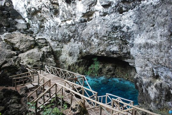 Hoyo Azul & Cave Tour. Cave Expedition, Hiking, water splashing.