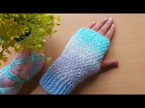 كروشيه شتوي2021 جوانتى قفازات كروشيه بدون أصابع بغرزة سهلة وانيقة Gloves Crochet Youtube Crochet Gloves Arm Warmers Fingerless Gloves
