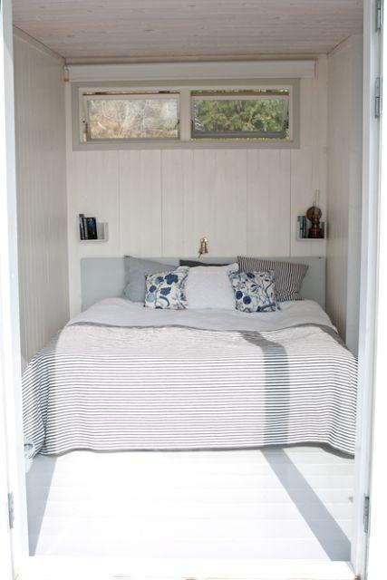 sovrum, skärgårdsstil, blåvitt, vit spont