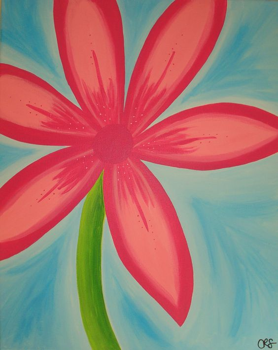 My Favorite Pink Summer Flower. Canvas Wall Art. Original ...