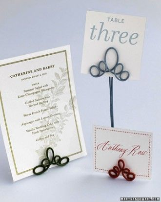 "See the ""Wire Table Number Holders"" in our  gallery"
