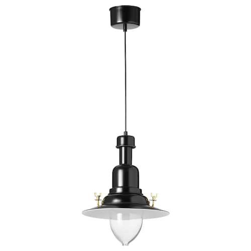 OTTAVA Taklampa, svart IKEA   Black pendant lamp, Pendant