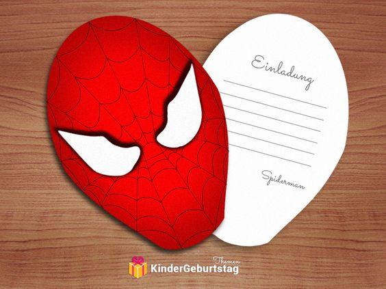 Schön Spiderman Einladungskarten: Kostenlose Vorlagen Der Einladungen Zum  Ausdrucken | Kindergeburtstag | Pinterest | Spiderman