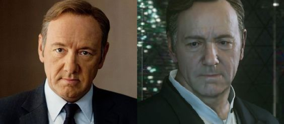 call of duty kevin spacey | Call of Duty: Advanced Warfare Kevin Spacey Compared To Real Life