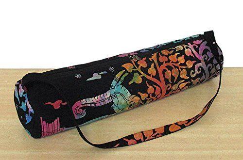Indian Handmade Yoga Bag Gym Mat Bag Carrier Bags Shoulder Strap