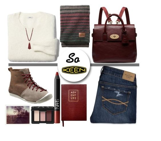 """So Fresh and So Keen: Contest Entry"" by juliehalloran ❤ liked on Polyvore featuring Abercrombie & Fitch, Mulberry, Madewell, Pendleton, NARS Cosmetics, Sloane Stationery, Lydell NYC, Keen Footwear and keen"