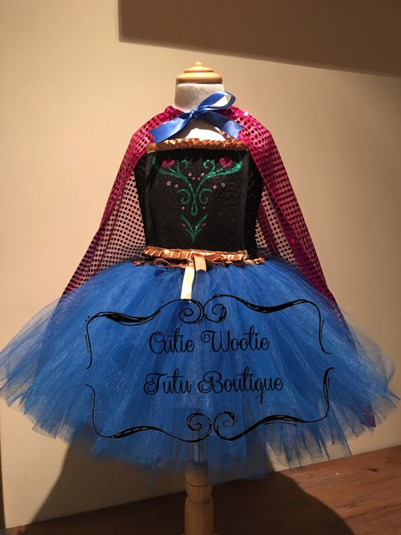 Frozen Princess Anna Tutu Princess Dress by CutieWootieTutu