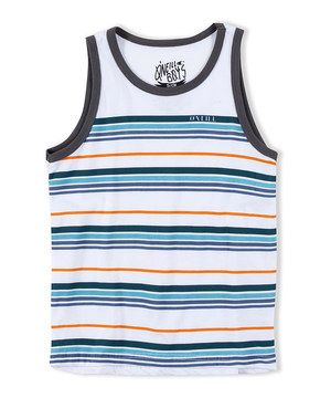Turn a classic into a new fave with this easy-fitting tank. The soft stripe pattern adds the perfect touch of color, while a sleeveless design and lightweight construction create breathability and instant comfort.