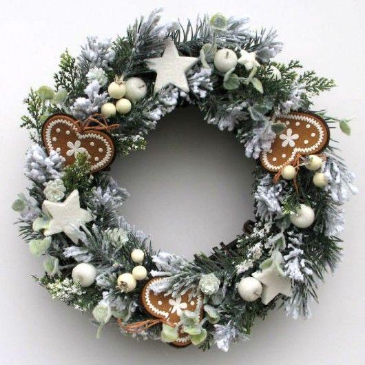Wianek Swiateczny Oszroniony Pakamera Pl Christmas Wreaths Christmas Crafts Christmas Decorations