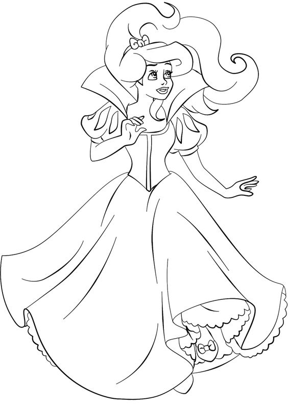 Pinterest the world s catalog of ideas for Beautiful princess coloring pages