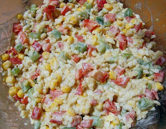 Curry-Reissalat mit Mais und Paprika 8