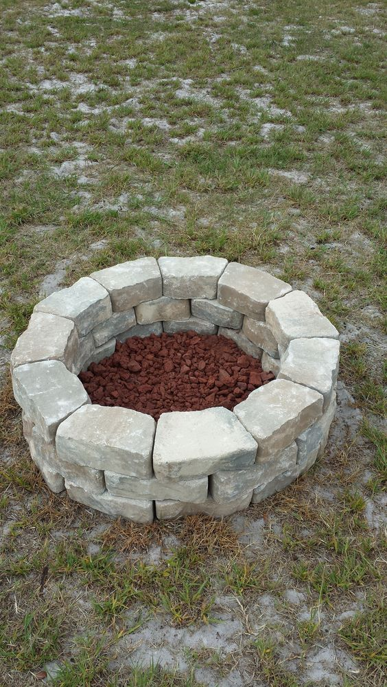 do it yourself fire pit easy cheap fire pit